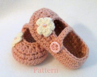 Baby Booties PATTERN Crochet Pattern Baby Booties Crochet Baby Shoes Crochet Pattern Crochet Pattern