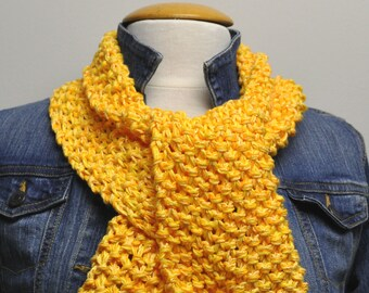 Knit Cotton Scarf in Daffodil