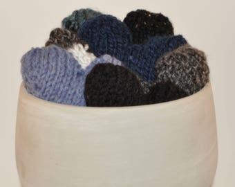 Knit Hearts, Ornaments, Pillows, Valentine's - many colours available