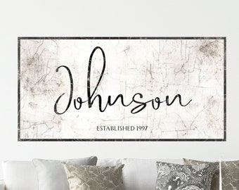 Personalized Wall Art Family Name Sign Rustic Decor Farmhouse