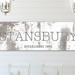 Farmhouse Art, Custom Name Decor, Family Wall Art, Black and White Wall Art, Industrial Modern Wall Decor, Last Name Sign, Established Sign
