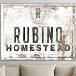 Custom Family Name Sign, Modern Vintage Decor, Large Rustic Wall Decor, Farmhouse Wall Decor Living Room, Last Name Sign, Family Homestead