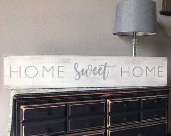 Barn Wood Signs, Barn Wood Home Signs, Shabby Chic Home Sign, Rustic Barn Wood Decor, Shabby Chic Wood Sign, Home Sweet Home Sign