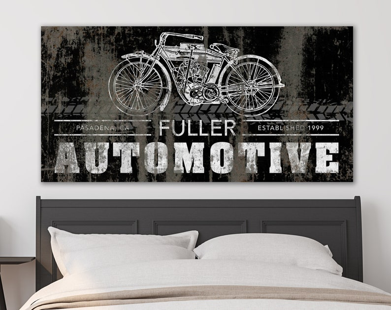 Vintage Modern Wall Decor for Teens Personalized Automotive image 0
