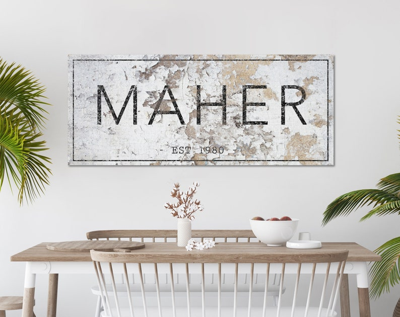Farmhouse Family Sign Last Name Sign Farmhouse Wall Decor image 0