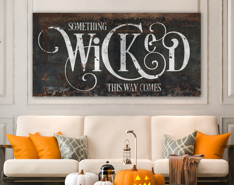 Industrial Gothic Halloween Decor Something Wicked This Way image 0