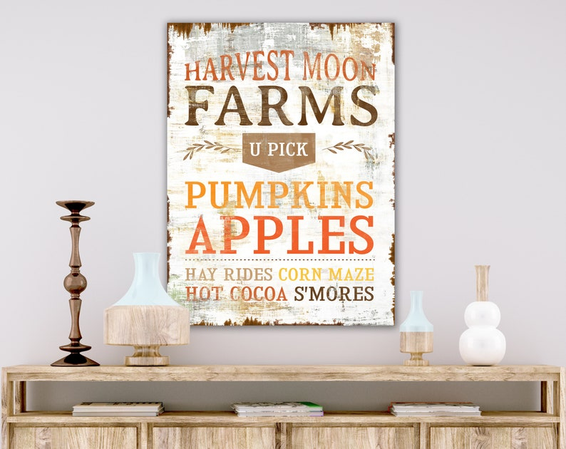 Rustic Fall Home Decor Sign Modern Farmhouse Thanksgiving image 0
