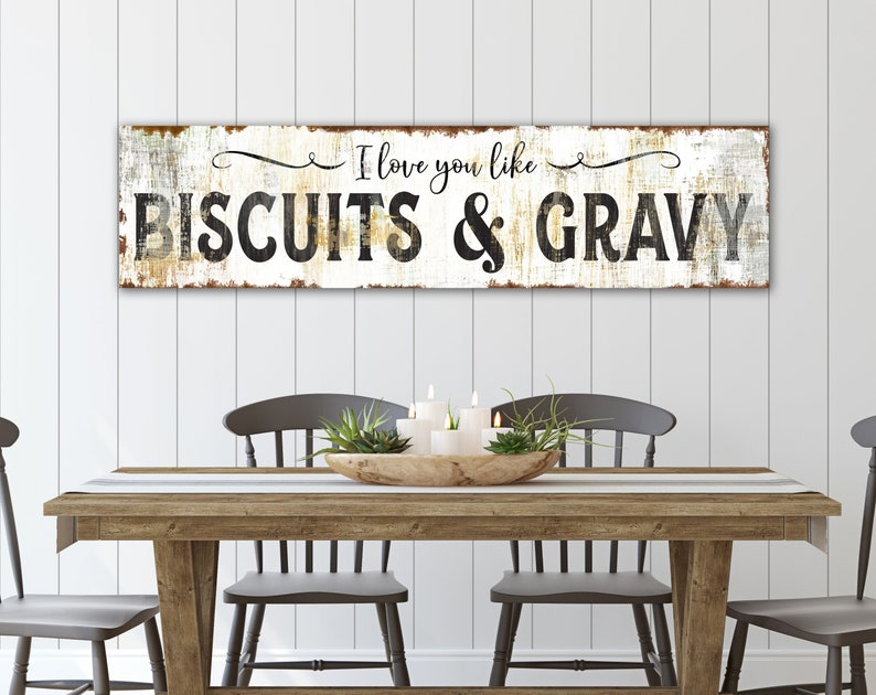 Farmhouse Kitchen Wall Decor Rustic Chic I Love You Like image 0