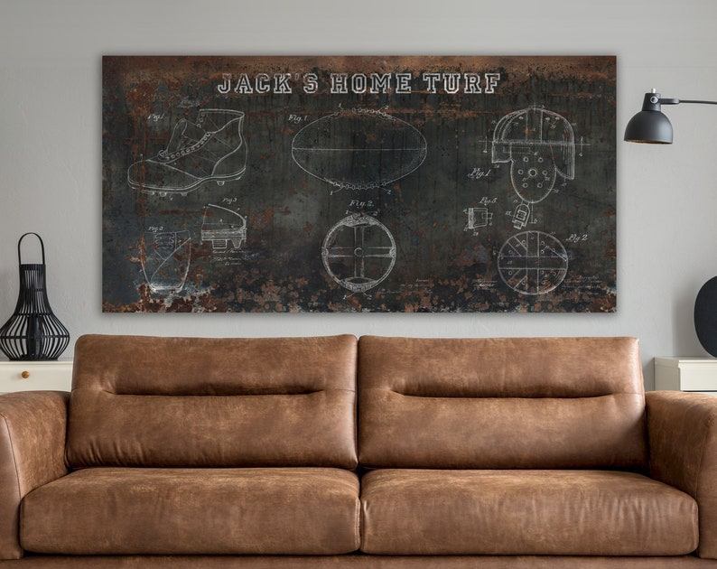 Vintage Football Patent Sports Decor Personalized Industrial image 0