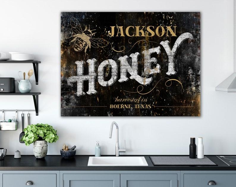 Rustic Honey Bee Decor Modern Farmhouse Wall Decor Custom image 0