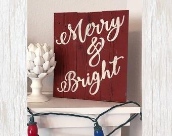 Rustic Christmas Sign, Primitive Christmas Sign, Rustic Christmas Mantle Decor, Wood Christmas Sign, Rustic Wood Christmas Sign