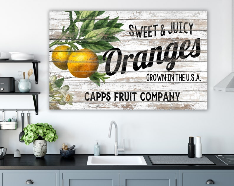 Rustic Chic Kitchen Wall Decor Personalized Vintage Shabby image 0