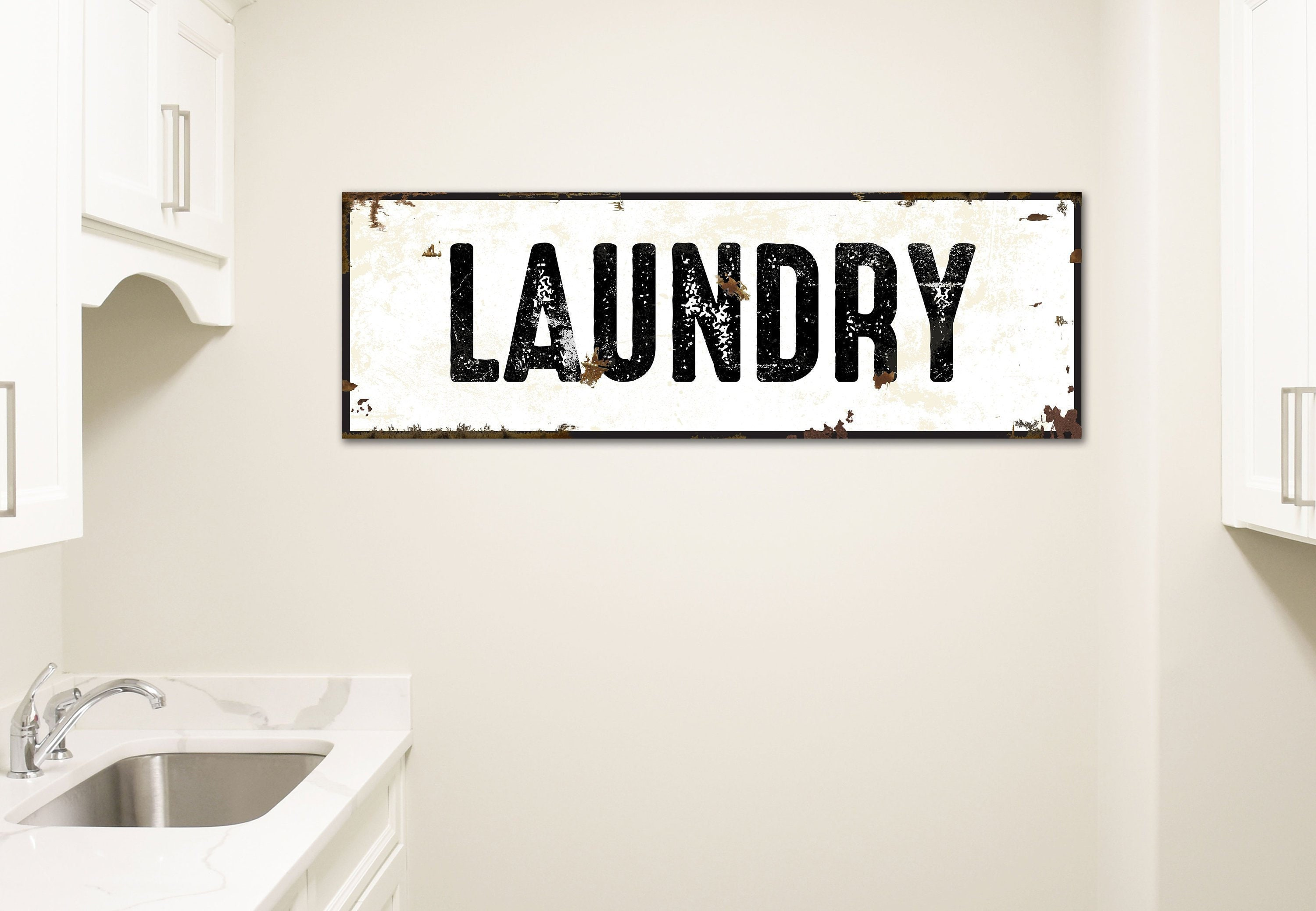 Laundry Room Decor Laundry Sign Farmhouse Sign Distressed Decor Rustic Laundry Room Sign Modern Farmhouse Decor Mud Room Art Wash Dry