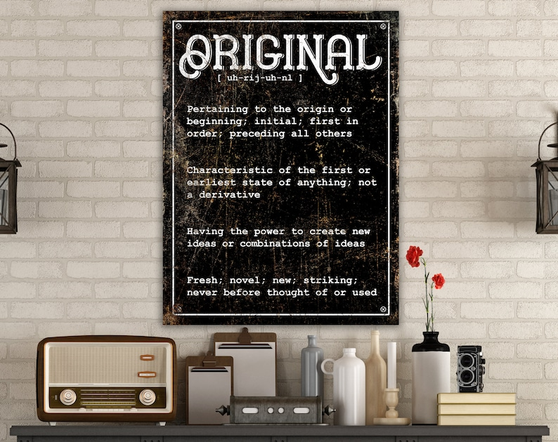 Original Dictionary Definition Quote Wall Art Custom image 0