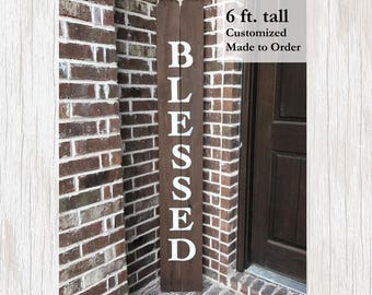 Inspirational Sign, Inspirational Wood Decor, Inspirational Wood Sign, Blessed Sign, Porch Sign, Rustic Blessed Sign, Rustic Wedding Sign