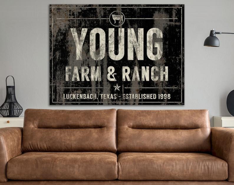 Custom Last Name Rustic Western Modern Farmhouse Farm & Ranch image 0