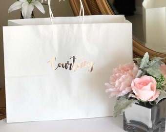 Vogue style gift bags-X-Large gift  bags-personalized gift bags-bridesmaid gift bags-maid of honor gift bags-bridesmaid gifts-gift bags