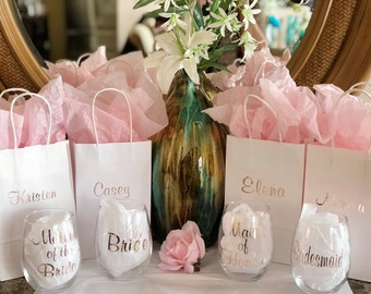 Bridesmaid proposal gift set bridesmaid gift set bridesmaid gifts bridal  party gifts wine glasses Personalized wine glasses 6be3886350d4