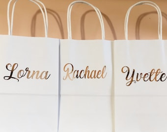 Rose gold gift bags/Personalized Gift bags/Bridesmaid Gift bags/bridesmaid proposal/Custom Gift bags/Bridesmaid gifts/bridal party gifts