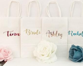 Bridesmaid gift bags/Bridesmaid Gifts/Personalized Gift bags/Wedding/Gift bags/Custom Gift bags/Gift ideas/Wedding gift ideas/Bridesmaids