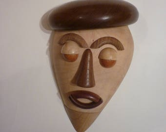 Wooden Mask. Hand Turned