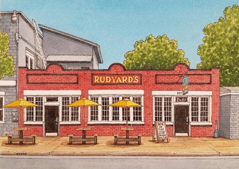 Houston Texas Two Prints Rudyard/'s and Pik N Pak Live Music Package Deal Jim Koehn Art. Watercolor Paintings Art Prints 8 x 10