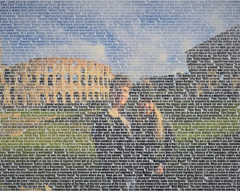 Canvas Print Made With Your Words 80x60cm