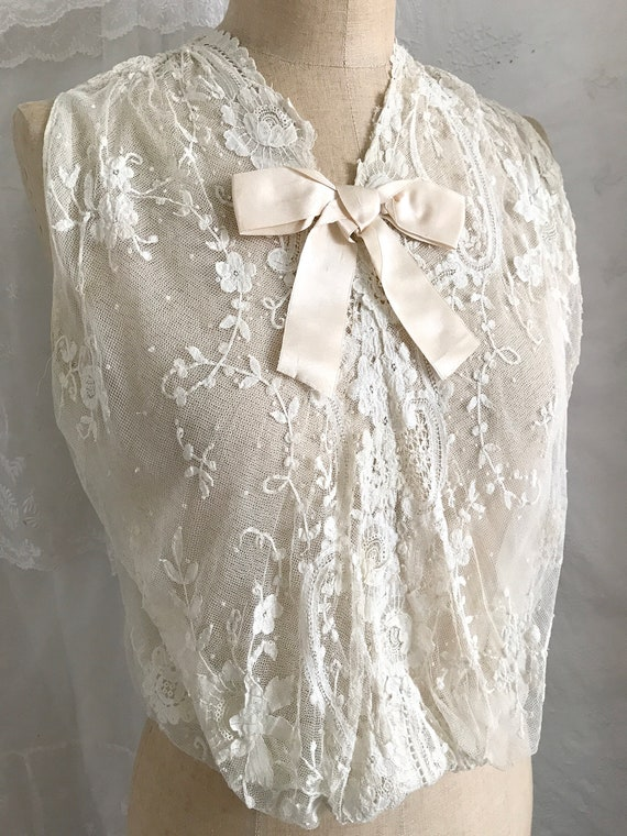 Antique Tambour Lace Chemisette/ Bodice