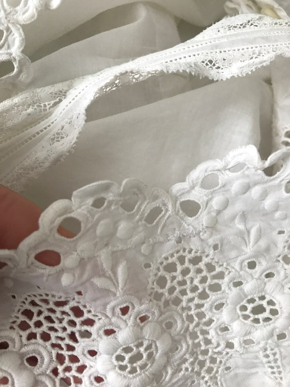 RESERVED- Antique Broderie Anglaise Corset Cover … - image 8