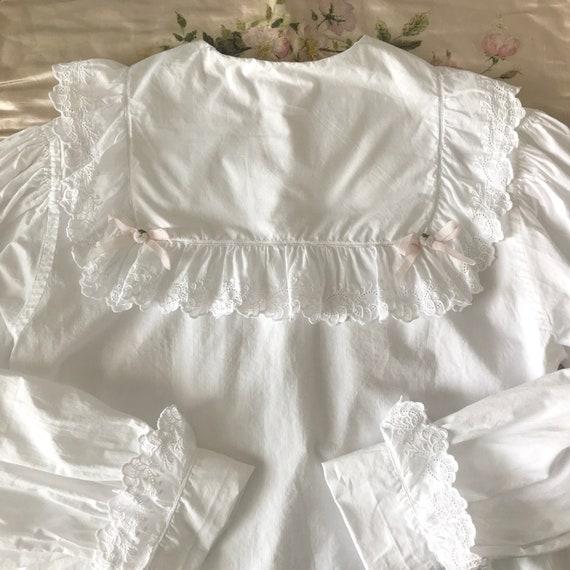 Antique Sailor Collar Bed Jacket Blouse