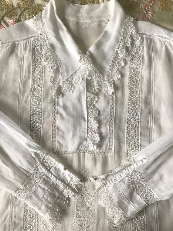 Antique 1910s/20s Embroidered Tunic Blouse