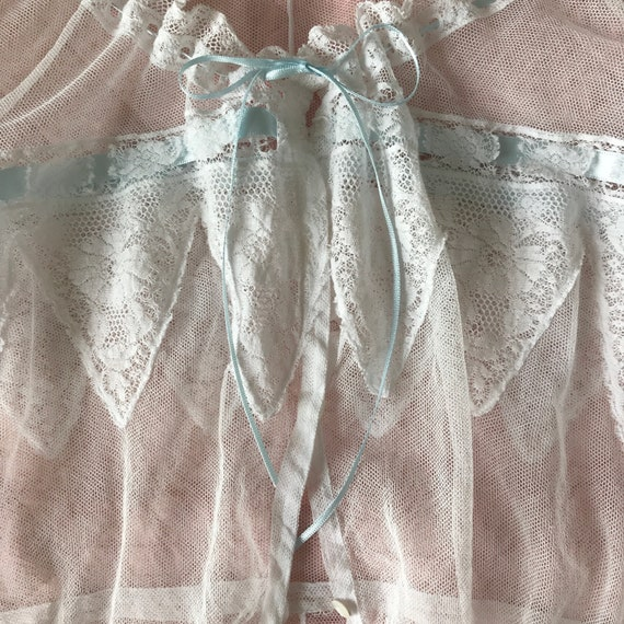 Antique Edwardian Tulle Lace Corset Cover Camisole - image 6