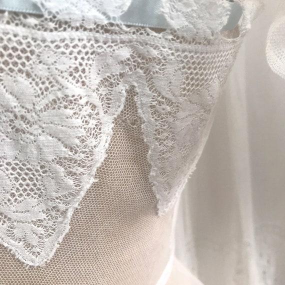 Antique Edwardian Tulle Lace Corset Cover Camisole - image 2