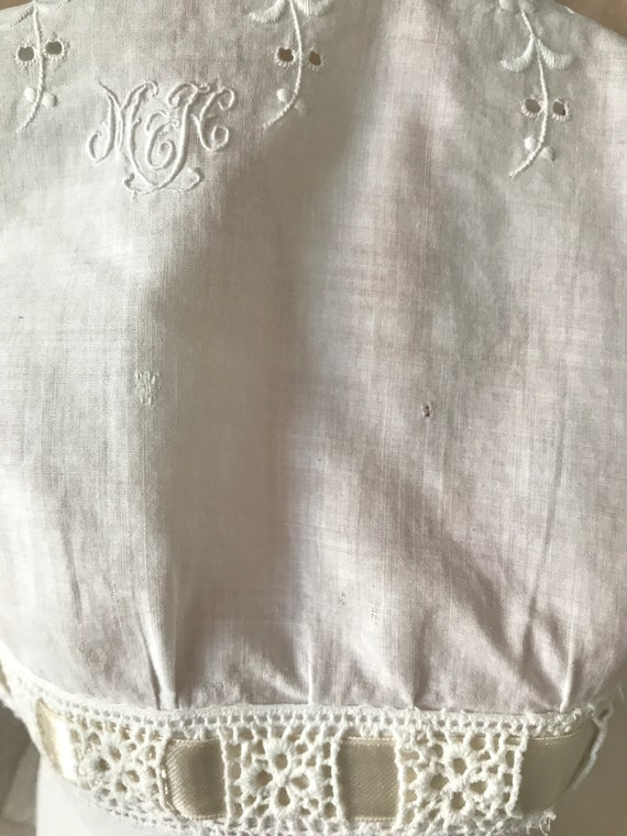 RESERVED- Antique Broderie Anglaise Corset Cover … - image 5