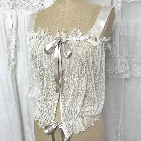 Antique Lace Camisole Corset Cover