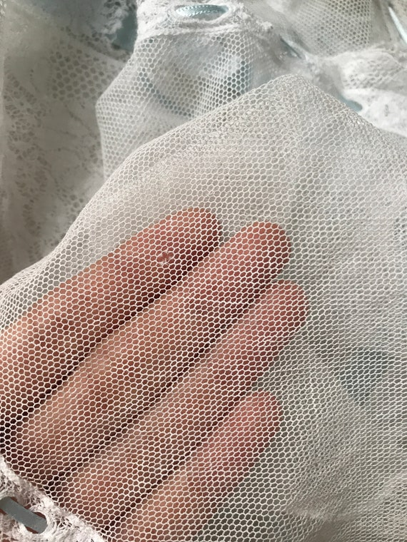 Antique Edwardian Tulle Lace Corset Cover Camisole - image 8