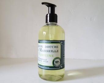 New! Shower gel Provence Verbena/SOAP shower SOAP natural Marseille/Gel body craft/bath/spa/SOAP shower hands