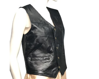 Genuine Leather motorcycle vest
