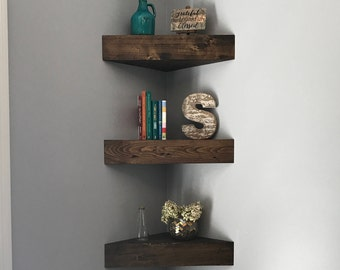 Wonderful Corner Floating Shelves, Corner Shelf, Corner Shelves, Floating Shelves,  Wooden Shelves,