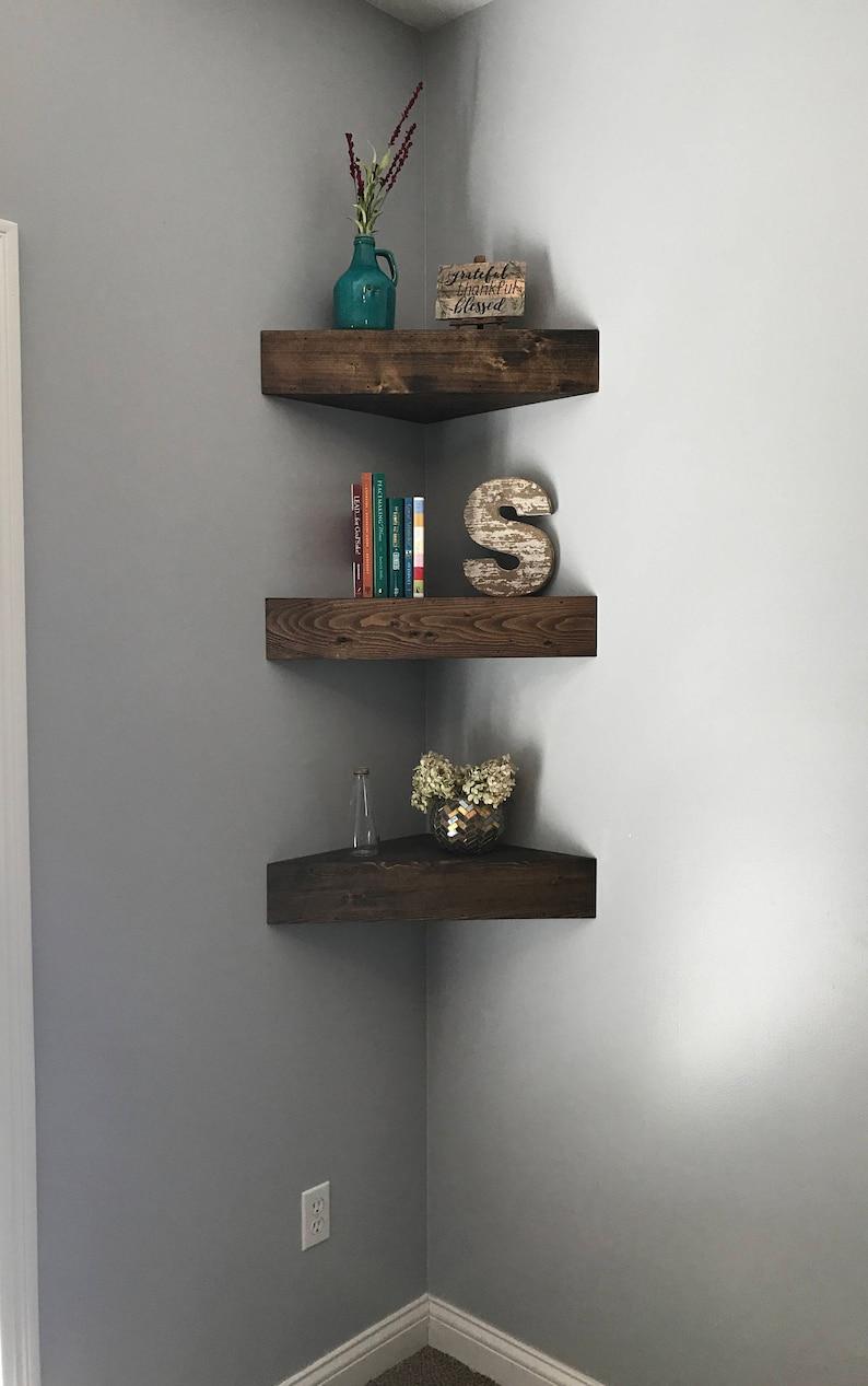 Corner Floating Shelves Corner Shelf Corner Shelves Etsy