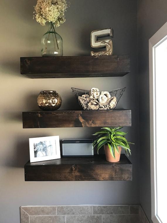 Wood Floating Shelf Shelves, Wood Shelves Bathroom