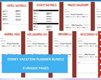 Disney World Vacation Planner Kit – Printable Itineraries, Reservations, Mickey Mouse Letter