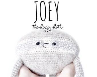 PATTERN ONLY: Joey the sloppy sloth - crochet pattern