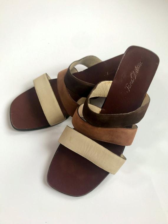 Vintage 1990's Jane Shilton Suede Mules Sandals UK