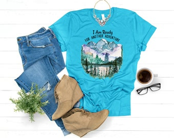 J. R. R. Tolkien quote I am ready for another adventure, LOTR T-Shirt, LOTR quotes, The Hobbit, Gift for reader, Bookish T shirt