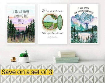 Any 3 designs for the price of 2, Set of 3 of your choice of any literary Wall Art Print Set,, Bookish gift, Bookish gifts, Gift for reader