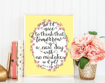Lucy Maud Montgomery quotes, Anne of Green Gables gift,Book Lover, Books, Reading, Teacher Gift, Anne Shirley gift, literary wall art