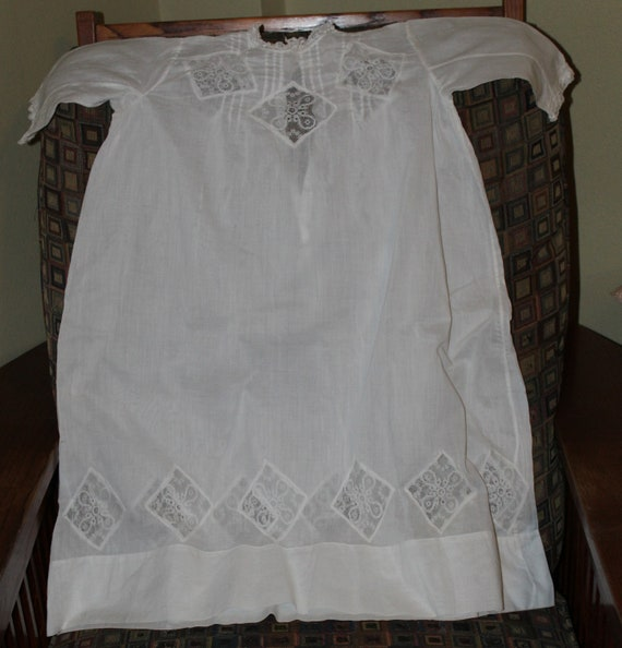 Beautiful Cotton Lawn Christening Dress, Vintage 1