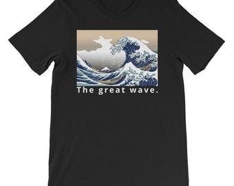 bead32a2f9ea71 Retro Jordan 1 Hoodie Sweatshirt Mens clothing. £36.46. The great Wave Short -Sleeve Graphic tees mens T-Shirt