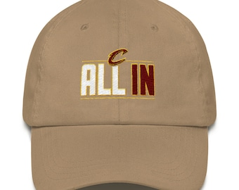 Cleveland Cavaliers All in Khaki flat embroidered Dad hat